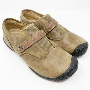 Keen leather slip on loafers